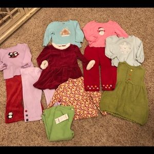 Lot of 11 Gymboree girls 12-18 holiday pants tops